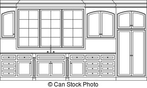 Customcabinets clipart clip art royalty free download Kitchen cabinets Illustrations and Clipart. 4,953 Kitchen ... clip art royalty free download