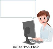 Representative vector clip art. Customer service agent clipart