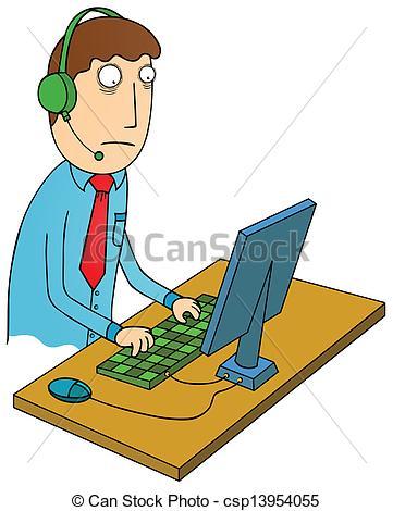Customer service agent clipart. Representative stock illustrations