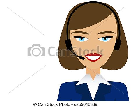 Customer service agent clipart clipart free stock Customer service representative Stock Illustrations. 2,368 ... clipart free stock