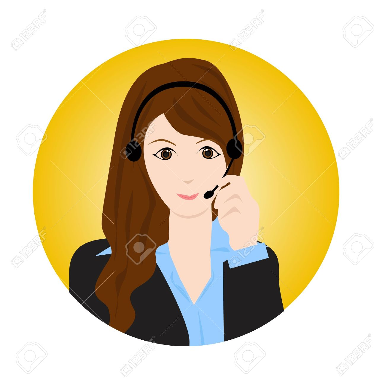 Customer service agent clipart clip transparent stock Customer service agent clipart - ClipartFest clip transparent stock