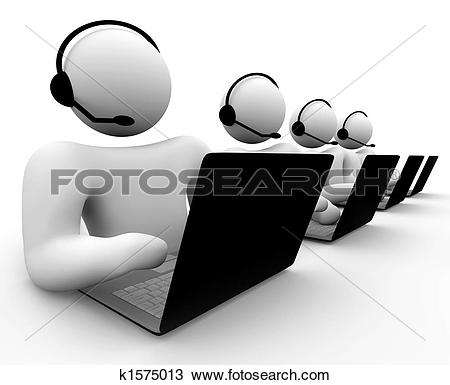 Customer service clipart and graphics picture transparent download Drawings of Computer Customer Support Person k1575014 - Search ... picture transparent download