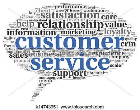 Customer service clipart free image freeuse library Clipart of Customer service concept in word cloud k14743951 ... image freeuse library