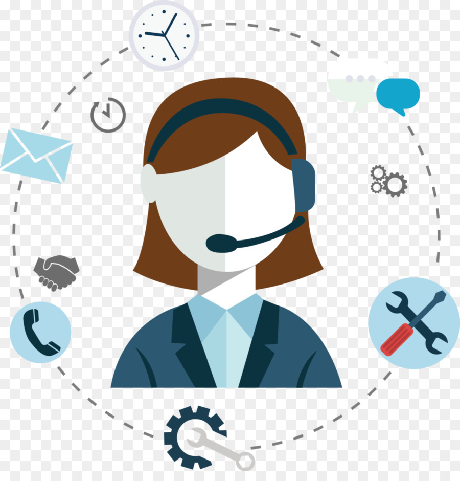 Customer support clipart