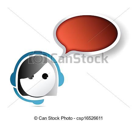 Customer service rep clipart png black and white stock Customer service representative Vector Clip Art EPS Images. 1,512 ... png black and white stock