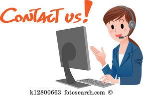 Customer service representative clipart graphic freeuse Customer service representative Clipart and Illustration. 1,370 ... graphic freeuse