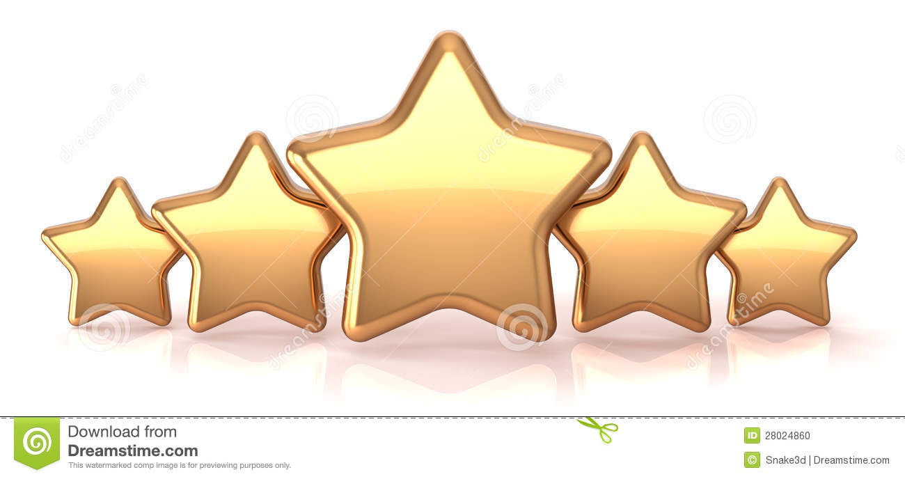 Customer service star clipart png free library Gold Stars Five Golden Star Service Award Stock Photo - Image ... png free library