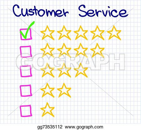 Customer service star clipart picture black and white stock EPS Illustration - Customer service stars. Vector Clipart ... picture black and white stock