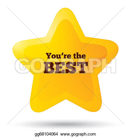 Customer service star clipart svg freeuse library Stock Illustration - You are the best icon. customer service award ... svg freeuse library