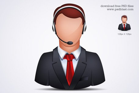 Customer support clipart png free Free Customer Service Representative Clipart and Vector ... png free