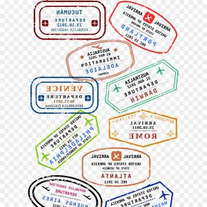 Customs at airport signage clipart stamp passport vector freeuse library Custom And Travel Passport Stamp Set International Airport ... vector freeuse library