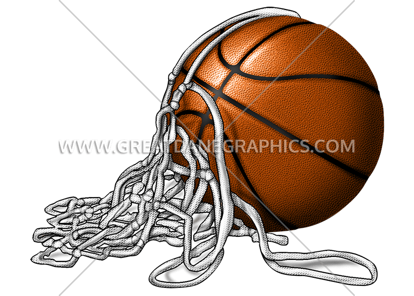 Cut basketball net clipart clip art royalty free stock Basketball with Net | Production Ready Artwork for T-Shirt Printing clip art royalty free stock