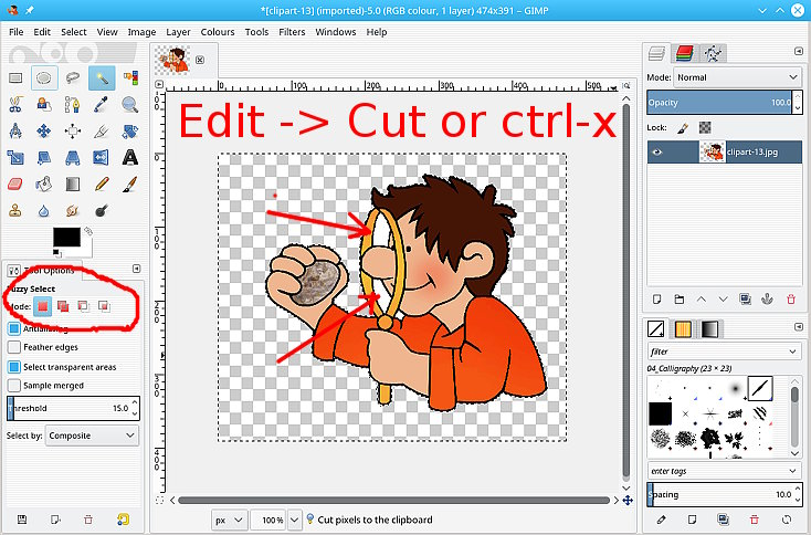 Cut cliparts on gimp banner black and white download Help with Selection Tools Issue (2018) — Help & Support — gimpusers.com banner black and white download