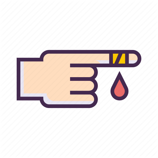Cut finger clipart transparent \'Healthcare & Medical - Lilac Vol. 2\' by Flat-icons.com transparent