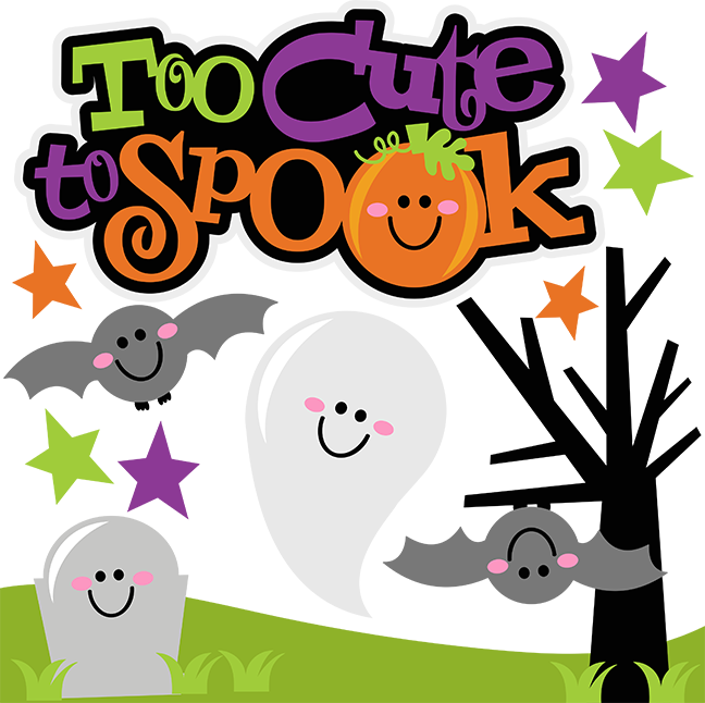 Halloween spooks clipart svg library stock Too Cute To Spook SVG Scrapbook Collection halloween svg files for ... svg library stock