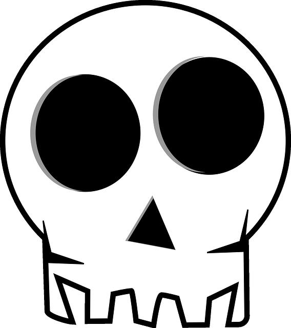 Halloween cute clipart black and white vector royalty free stock Gambar gratis di Pixabay - Tengkorak, Kematian Kepala | Pinterest ... vector royalty free stock