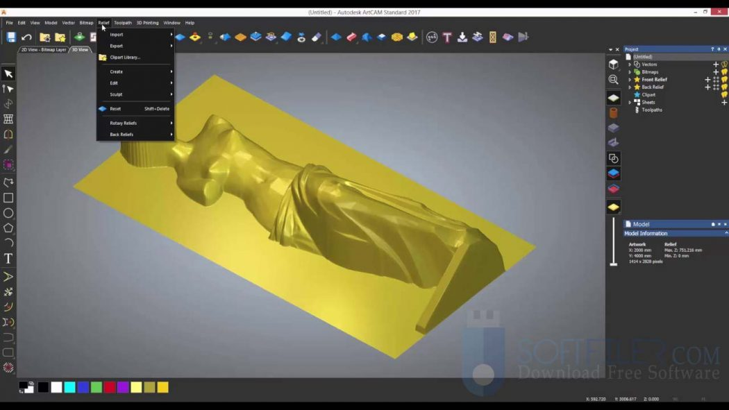 Cut out piece of clipart artcam 2018 clipart transparent download Autodesk ArtCAM 2018 Free Download - SoftFiler clipart transparent download