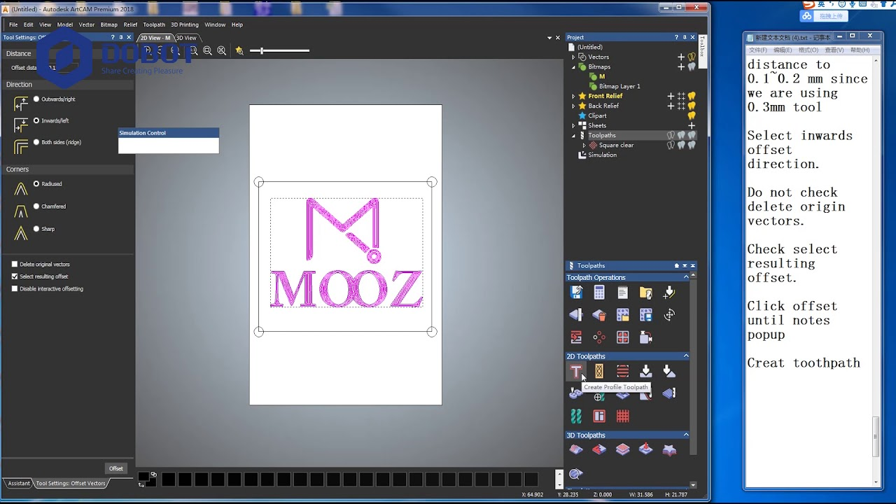 Cut out piece of clipart artcam 2018 clipart CNC Tutorial - How to Use ArtCAM to Do Vector Carving and Relif Carving clipart