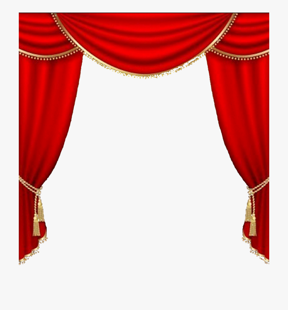 Cutains clipart picture black and white download Curtains Vector Clipart Theater Drapes And Stage Curtains - Red ... picture black and white download