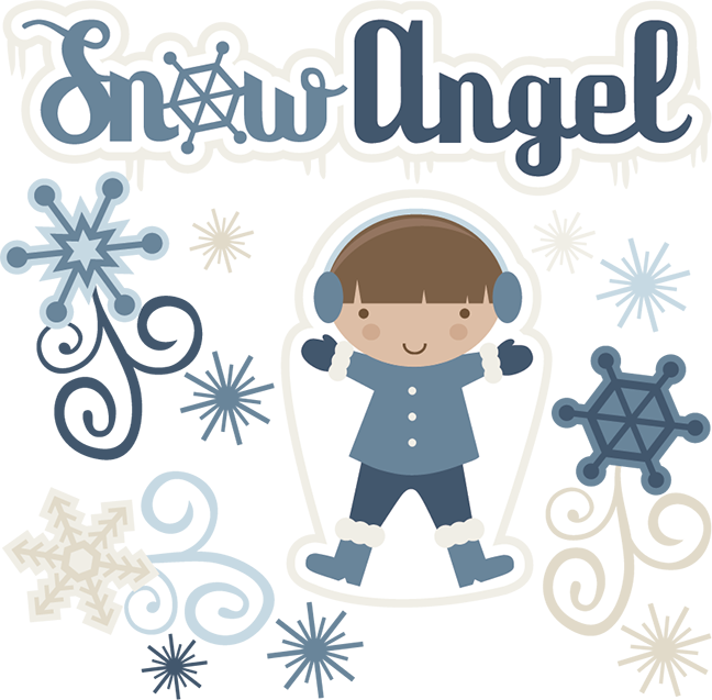 Cute angel with snowflake clipart vector black and white stock http://www.misskatecuttables.com/products/svg-collections/snow-angel ... vector black and white stock