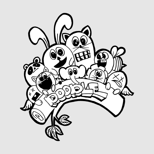 Cute Animal Monster Doodle, Cartoon, Happy, Character PNG and Vector ... clipart royalty free library