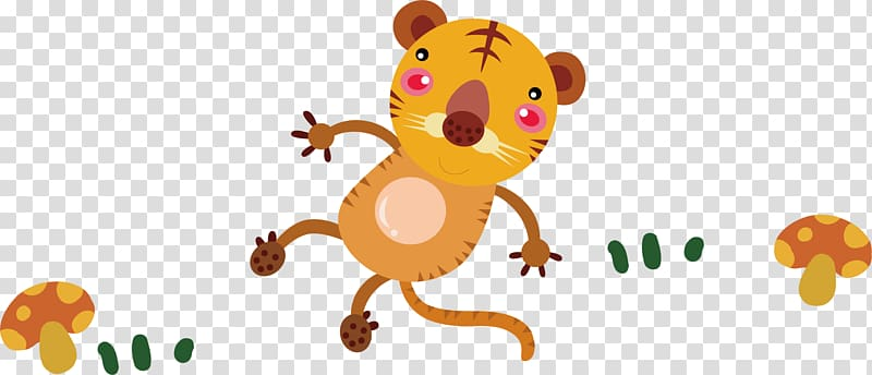 Tiger Cartoon, cute little tiger transparent background PNG clipart ... free download