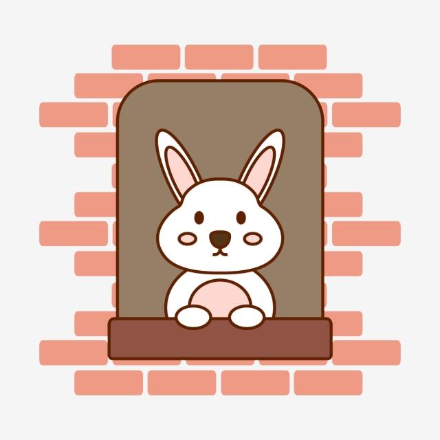 Cute Animal Rabbit Vector Flat, Cute Animal, Cute Rabbit, Rabbit ... clipart royalty free download