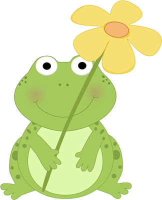 Cute+Spring+Clip+Art | Frog Holding a Flower Clip Art Image - cute ... clip freeuse