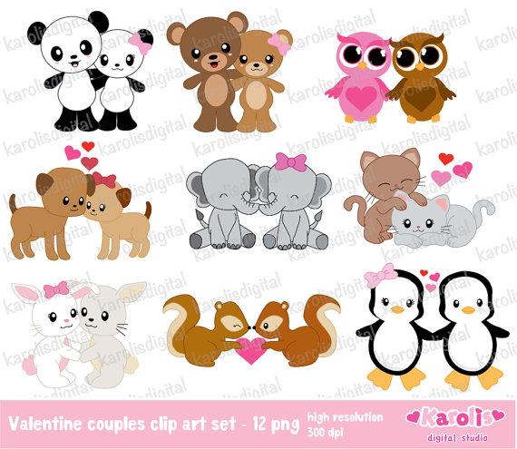 Cute animal valentine clipart. Clipartfest valentines