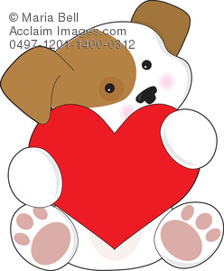 Cute animal valentine clipart picture free download Cute Puppy Valentine Clipart Image - Acclaim Stock Photography picture free download