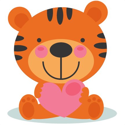 Cute animal valentine clipart png freeuse stock Cute Valentine Tigger scrapbook cuts SVG cutting files doodle cut ... png freeuse stock