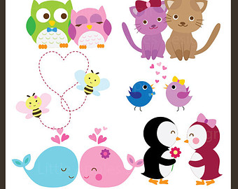 Png clipartfest love . Cute animal valentine clipart