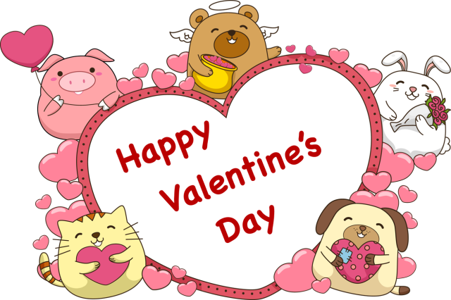 S day animals kid. Cute animal valentine clipart