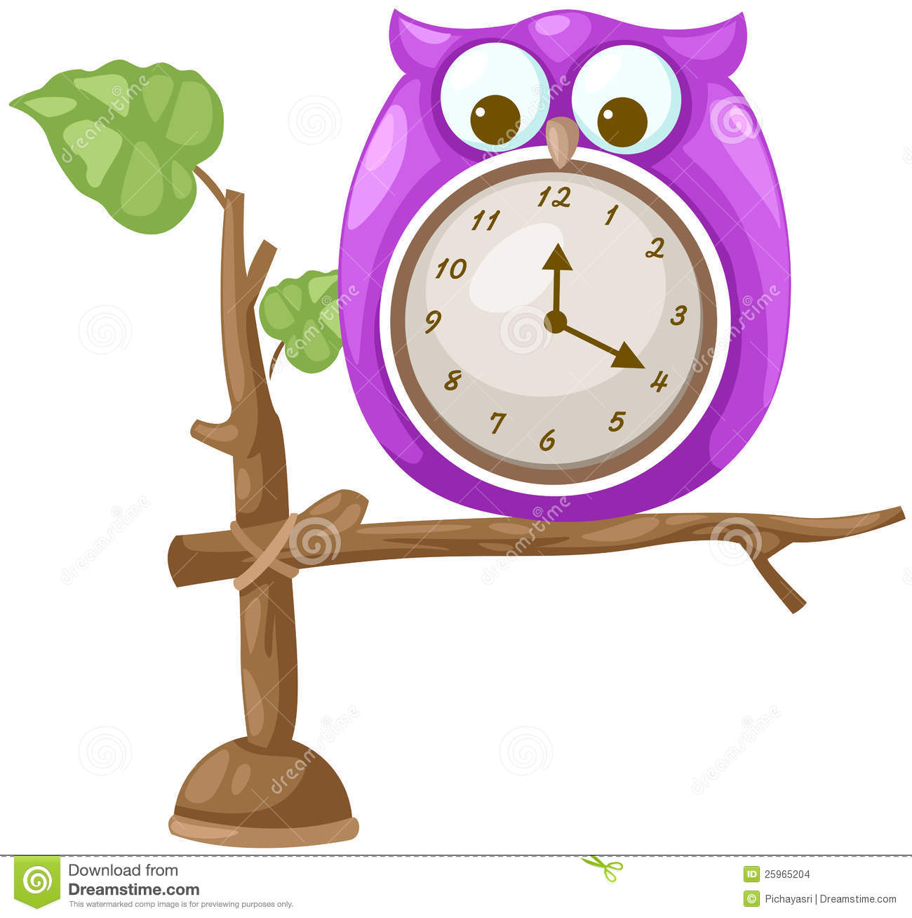 Cute animal with clock clipart. Clipartfest owl