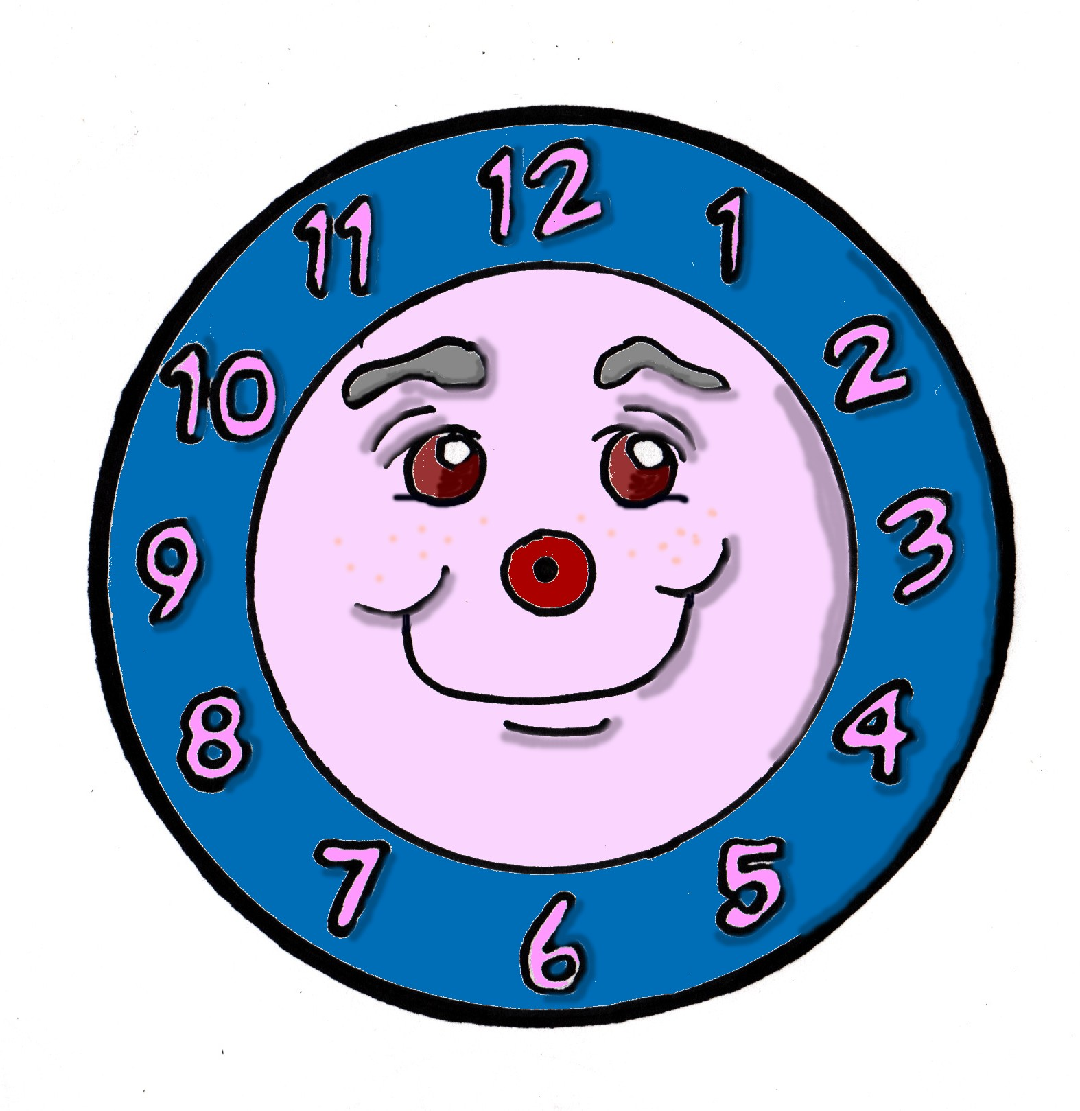 Cute animal clock clipart - ClipartFest png free download