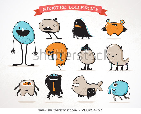Cute animal with clock clipart. Creature stock images royalty