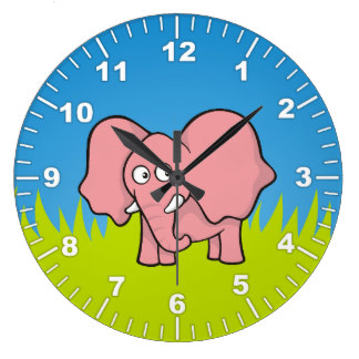 Wall clocks zazzle pink. Cute animal with clock clipart