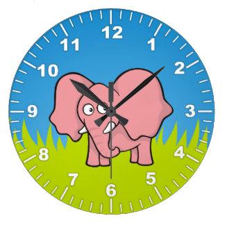 Cute animal with clock clipart png transparent stock Cute Animal Clipart Wall Clocks | Zazzle png transparent stock