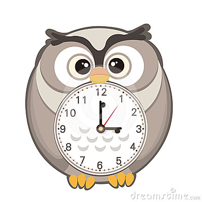 Clipartfest cartoon royalty free. Cute animal with clock clipart