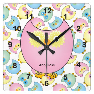 Cute animal with clock clipart png freeuse stock Cute Animal Clipart Wall Clocks | Zazzle png freeuse stock