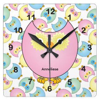 Wall clocks zazzle pastel. Cute animal with clock clipart