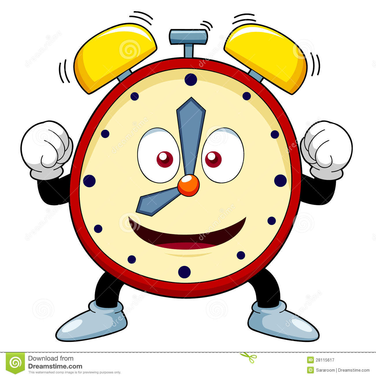 Cute animal with clock clipart - ClipartFest freeuse