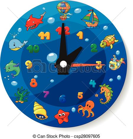 Cute animal with clock clipart - ClipartFest banner royalty free library