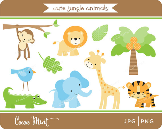 Clipartfox jungle animals clip. Cute animal with clock clipart