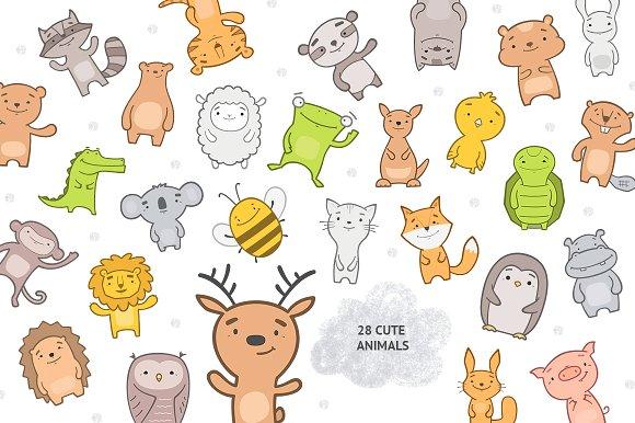 Cute baby animals clipart jpg royalty free