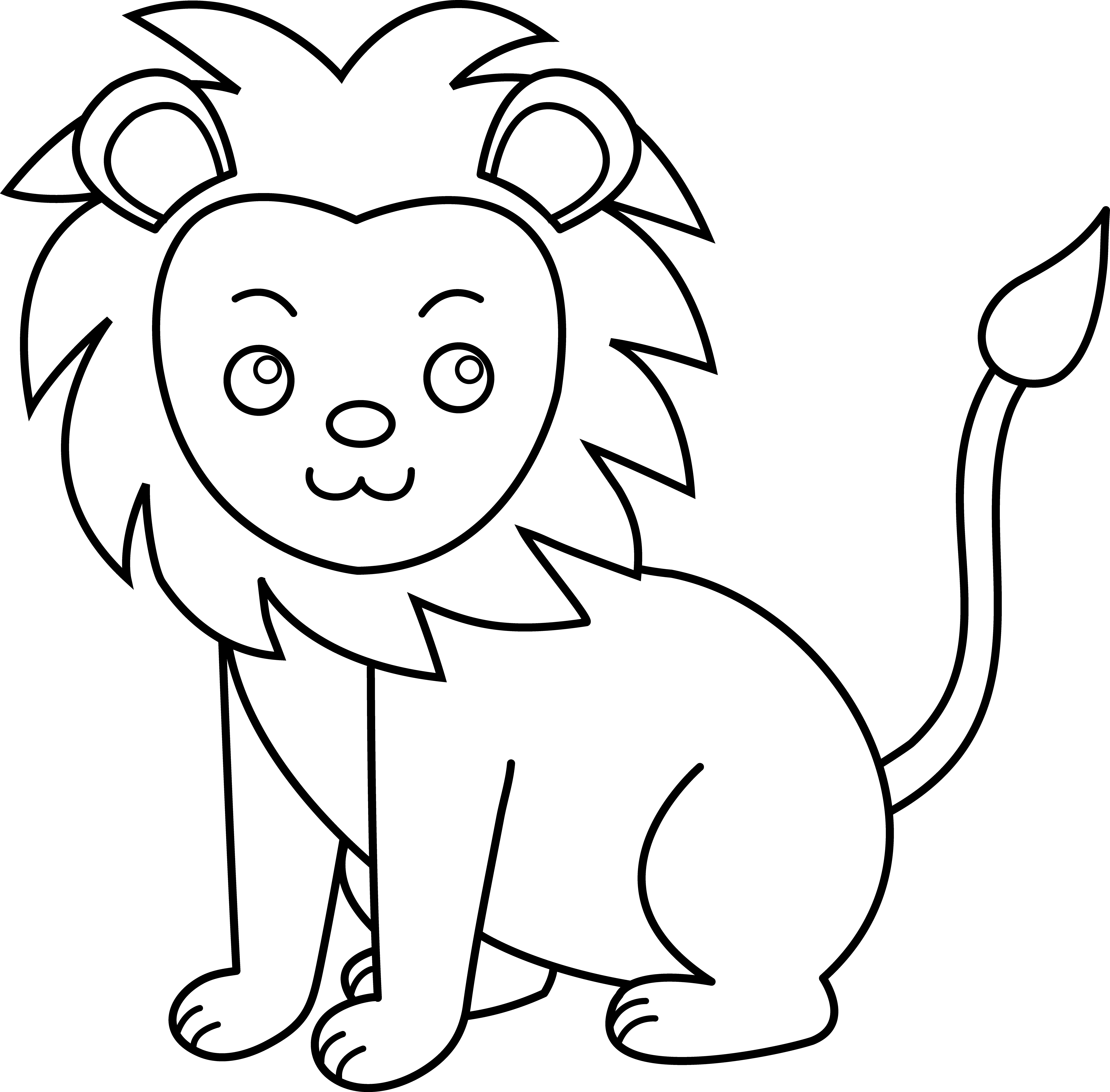 Cute apple clipart black and white svg library stock Free Lion Line Art, Download Free Clip Art, Free Clip Art on Clipart ... svg library stock