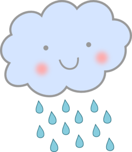 Cute april clipart black and white stock Cute Spring Rain Clipart - Clipart Kid black and white stock