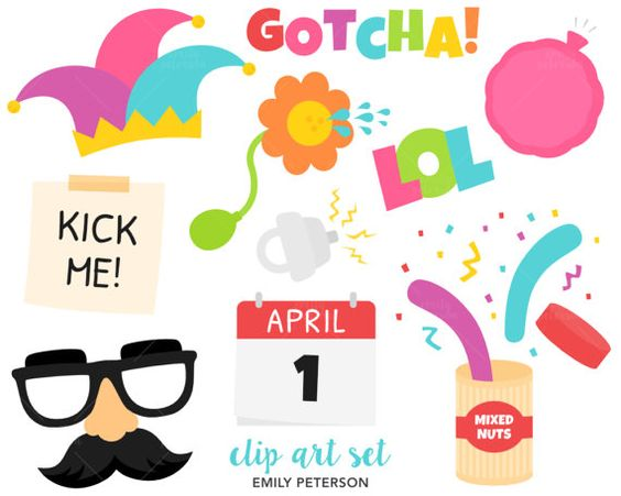 Cute april clipart image free April Fools, Prank, Joke - Cute Clipart, Vector Clip Art ... image free