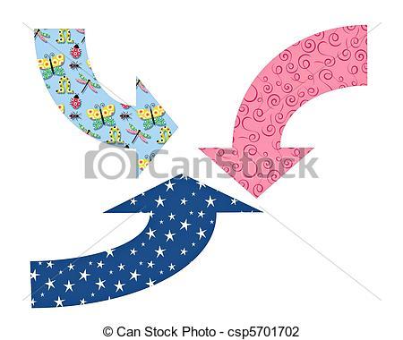 Cute arrow clip art vector royalty free download Clip Art of Cute arrows in different colors csp5701702 - Search ... vector royalty free download