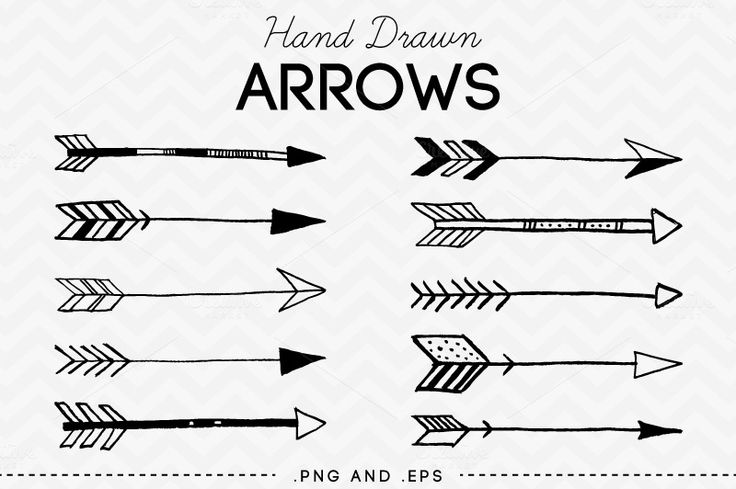 Drawn Arrow Clipart image freeuse library